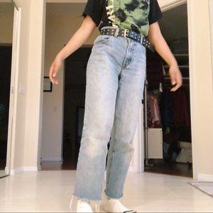 Levi's Straight Leg Light Wash Jeans 550s